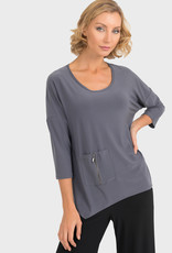 Joseph Ribkoff Zipper Pocket Top