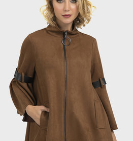 Joseph Ribkoff Leather Strap Jacket