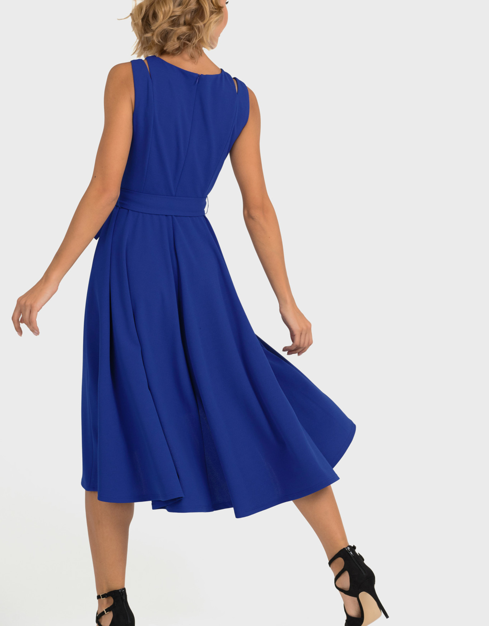 Joseph Ribkoff Belted Bow Dress