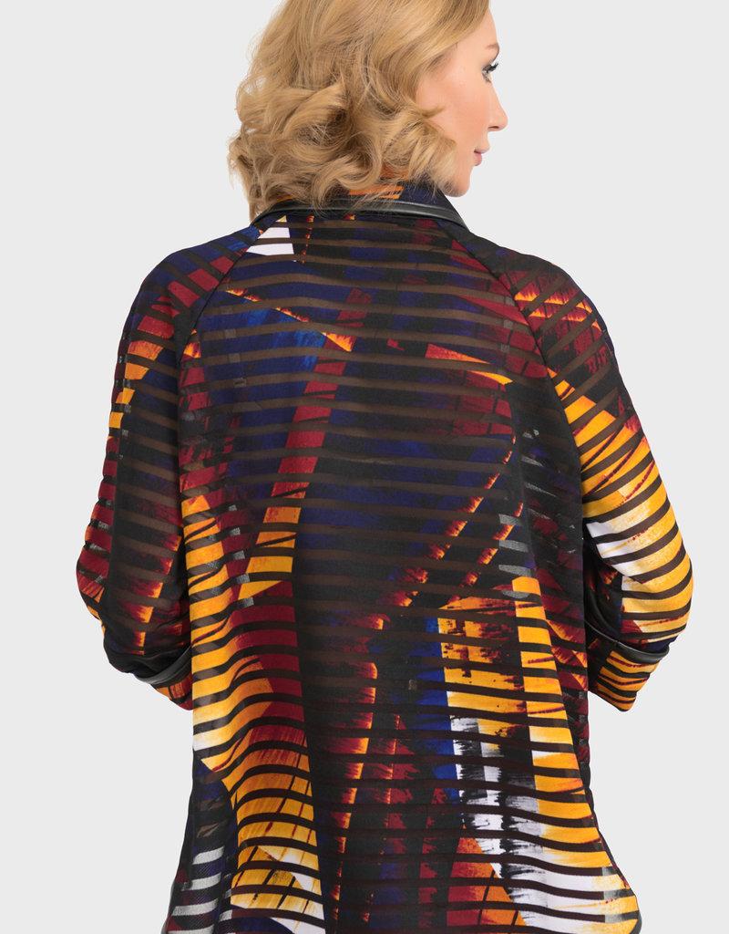 Joseph Ribkoff Geometric Stripe Jacket