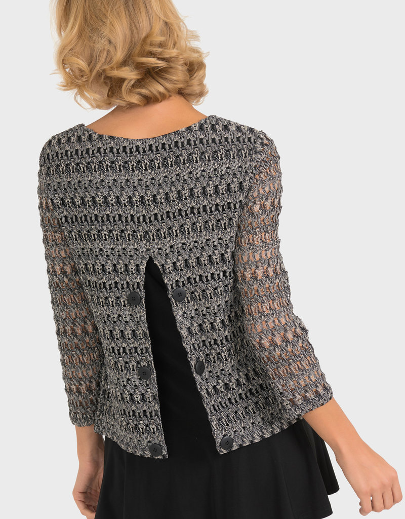 Joseph Ribkoff Slit Back Crochet Top