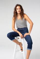 Liverpool Chloe Crop Rolled Cuff High Performance Denim