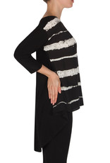 Joseph Ribkoff Black and White Stripe Tunic