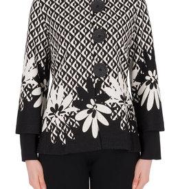 Joseph Ribkoff Geometric Floral Jacket