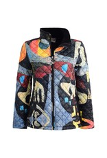 Dolcezza Abstract Print Quilted Jacket