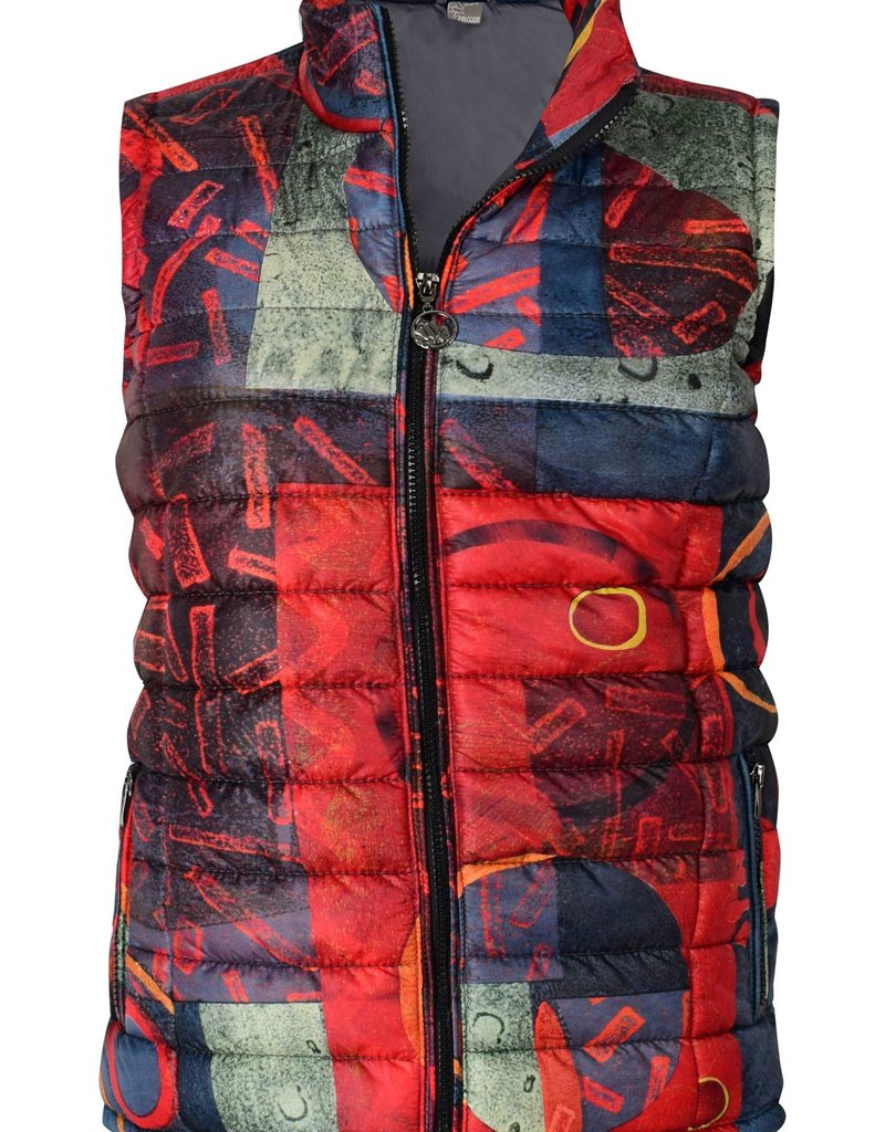 Dolcezza Red Impressions Puffy Vest