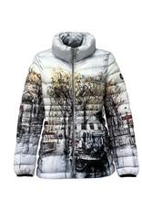 Dolcezza Paris Street Print Puffy Coat