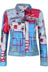 Dolcezza Art Deco Square Print Jacket