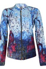 Dolcezza Blue Letter Print Jacket