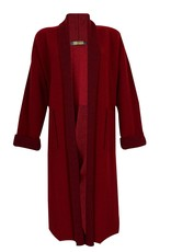 Dolcezza Long Burgundy Coat