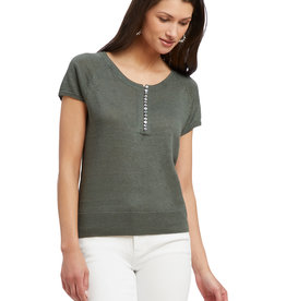 Nic & Zoe Button Up Sweater Tee