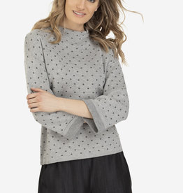 Tribal Lurex Polka Dot Sweater