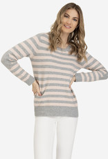 Tribal Elbow Patch Stripe Sweater