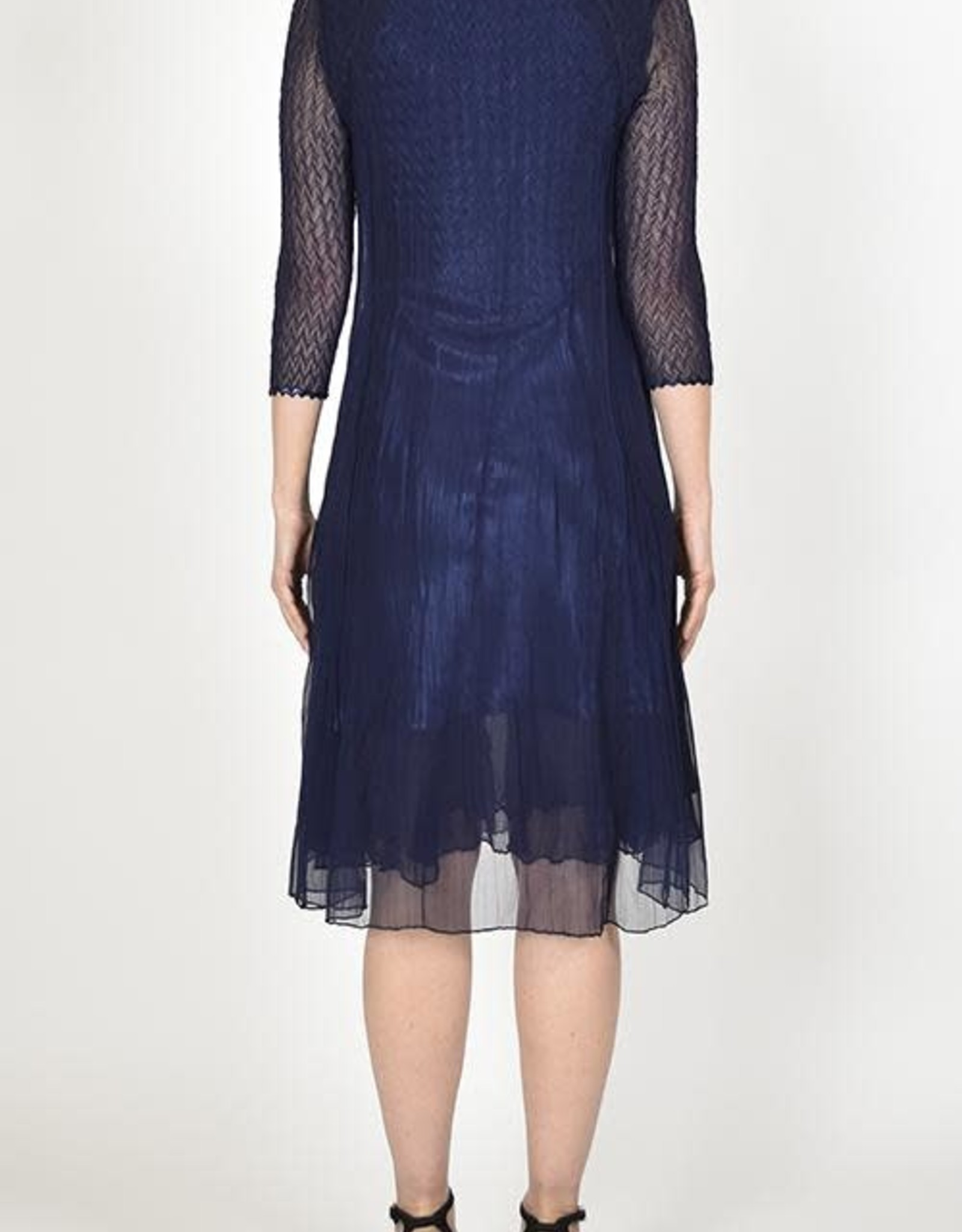 Komarov Midnight Navy Dress with Duster