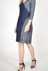 Komarov Metallic Navy Dress