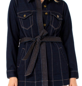 Liverpool Belted Long Jacket