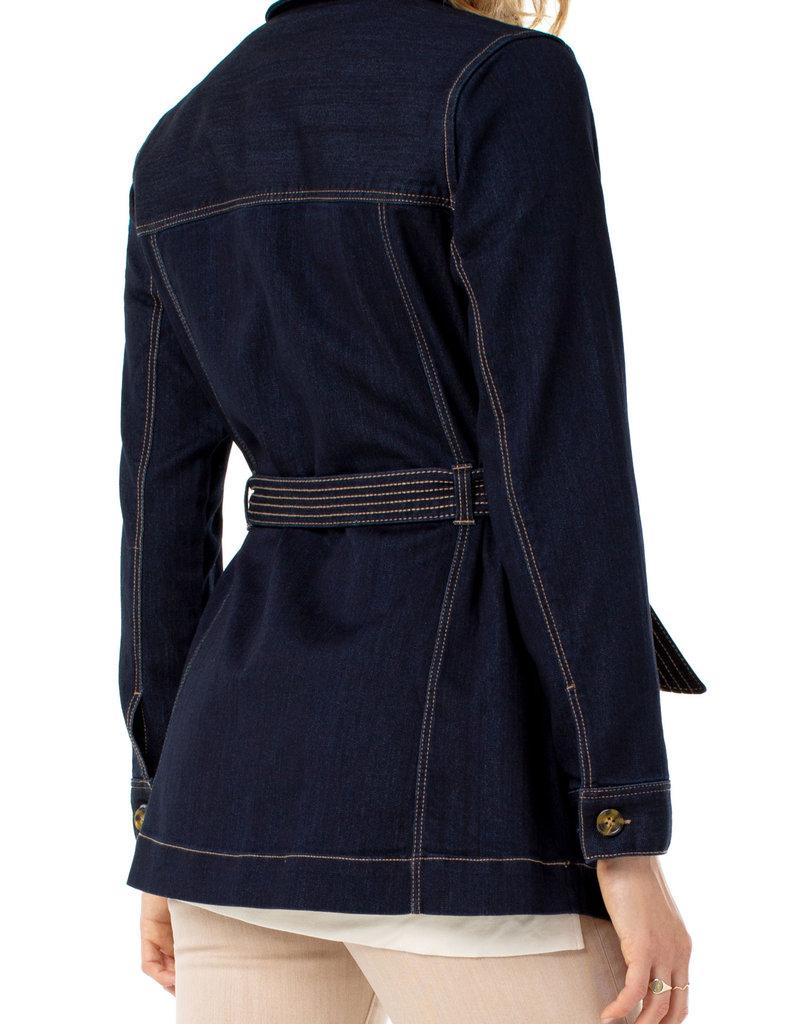 Liverpool Belted Long Jacket