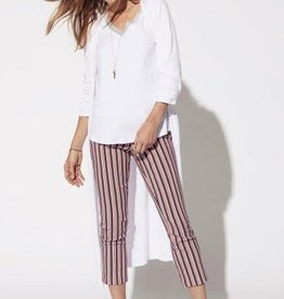 Tribal Striped Pull On Capri