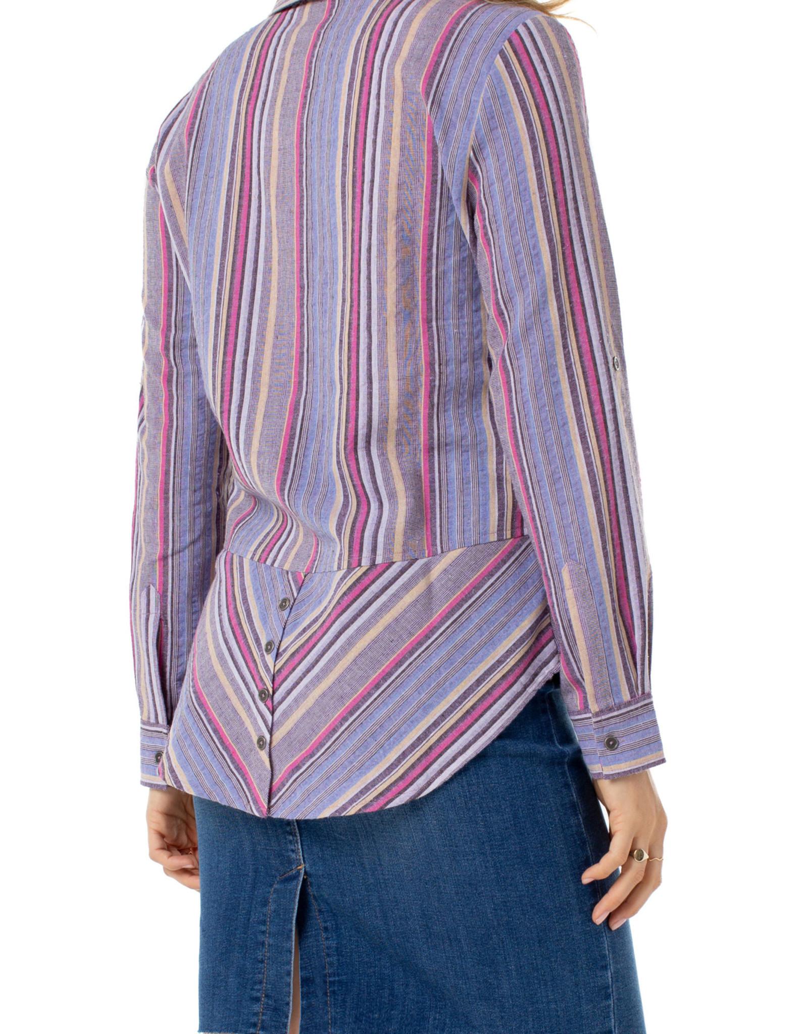 Liverpool Button Back Stripe Shirt