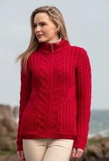West End Knitwear Kinsale Aran Zip Cardigan