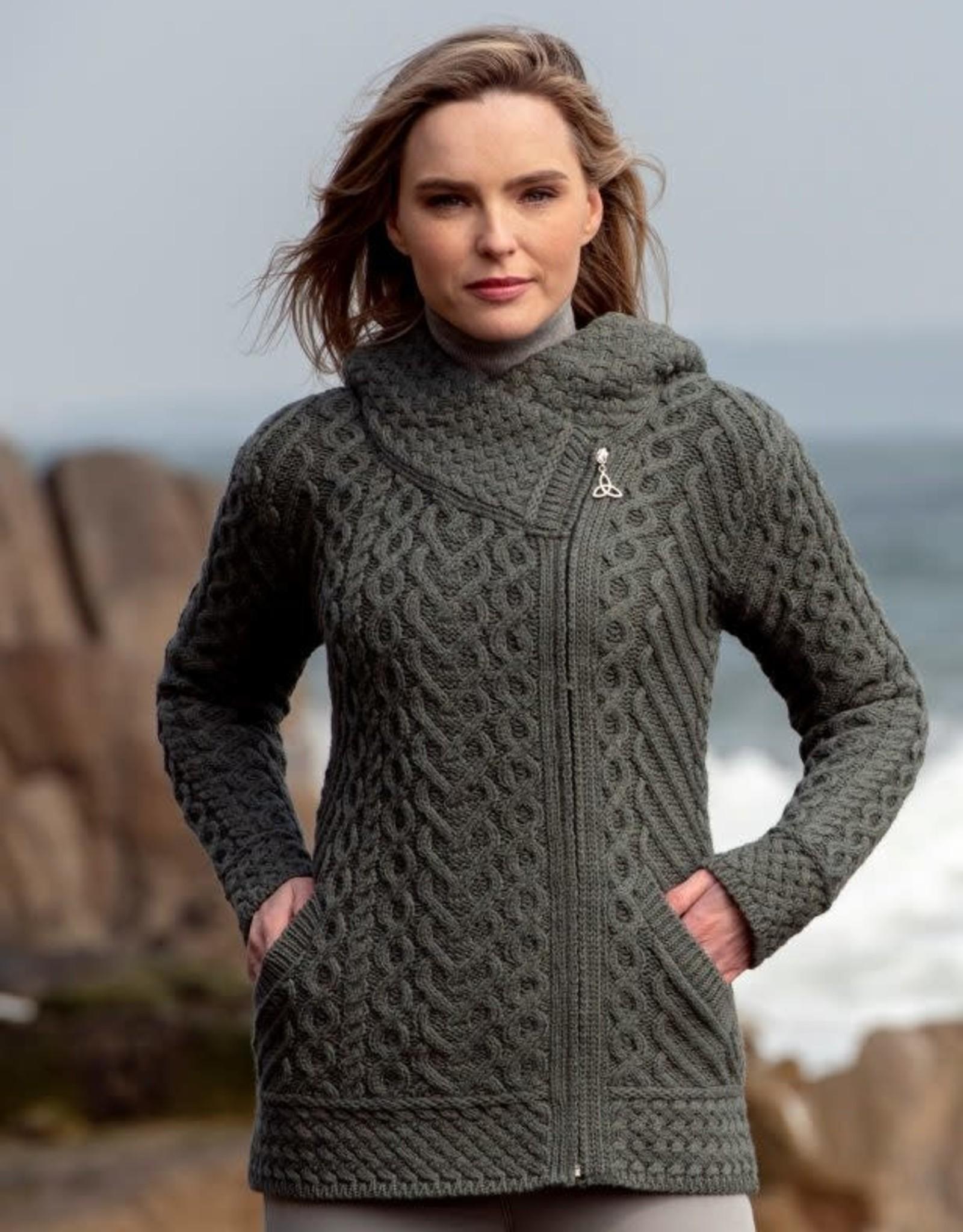 West End Knitwear Kilkenny Side Zip Cardigan with Hood