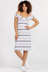 Tribal Ruffle Stripe Dress