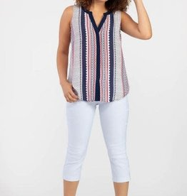 Tribal Sleeveless Crepe Blouse