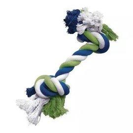 Dogit Dogit Blue/Lime/White Large Cotton Rope Bone