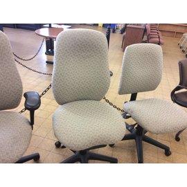 Beige pattern high back desk Chair on castors (3/4/21)