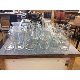 Large glass Vases various designs (9/24/18)