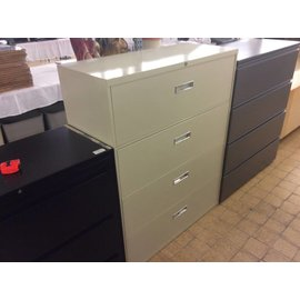 """18x42x52 1/2"""" Beige 4 drawer lateral file cabinet (10/16/18)"""