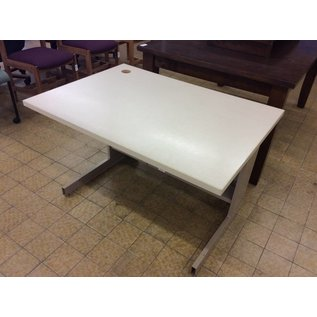 "30x42x27"" computer table with metal legs (11/7/18)"