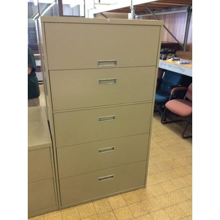 18x42x65 green 5 drawer file cabinet 10/24/18
