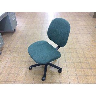 Green desk chair on castors (10/30/18)