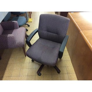 Purple pattern desk chair lightly stained (10/30/18)