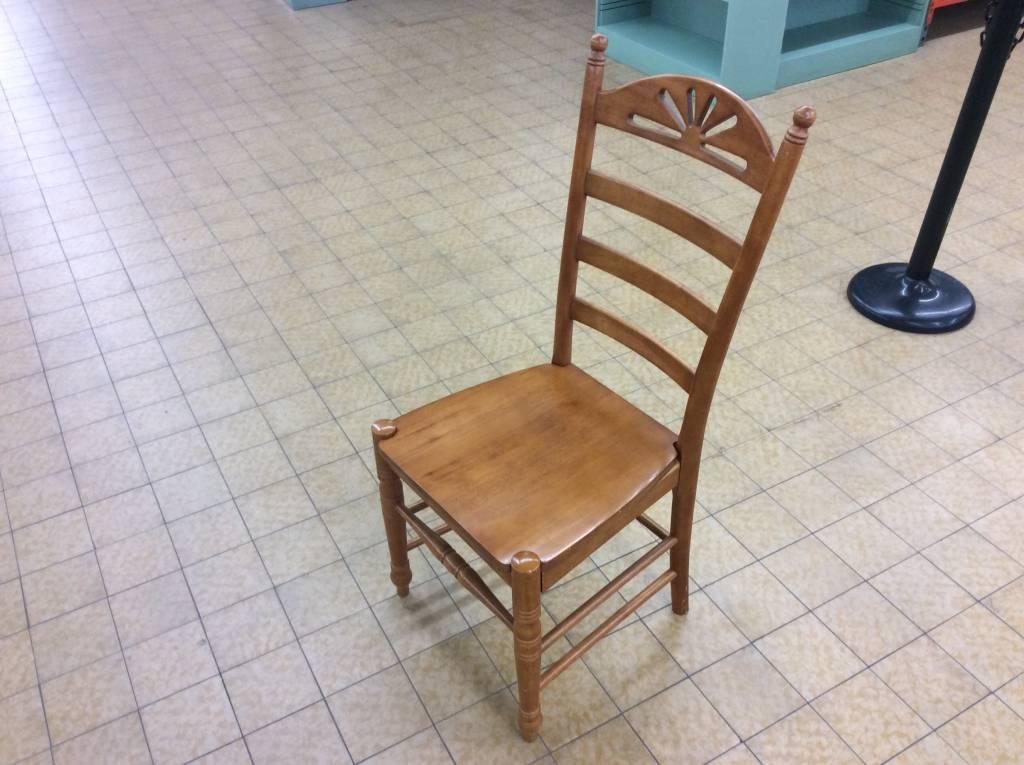 Oak Wood High Back Dining Chair 11118 Nd Surplus