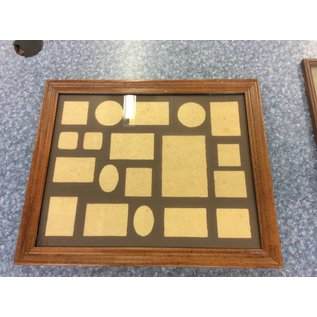 """22 1/2x18 3/4"""" wood frame photo collection frame (11/2/18)"""