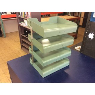 Green metal 4 tier paper tray (11/2/18)