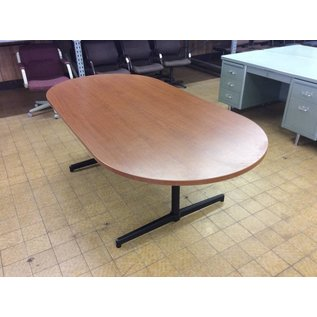 """42x84x28 1/2"""" Wood top oval conference table (11/2/18)"""