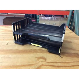 2 tier Black plastic paper tray (11/5/18)