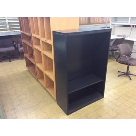 "15x36x54 3/4"" Black metal bookcase w/one shelf (11/6/18)"