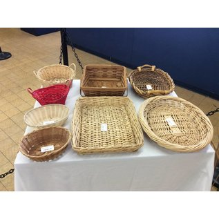 wicker baskets various styles 11/6/18