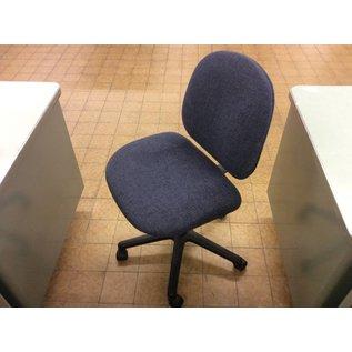 Blue desk chair on castors (11/7/18)