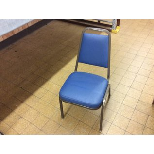 Blue padded metal frame dining chair (11/7/18)