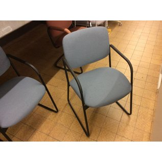 Blue padded sled base side chair (11/8/18)