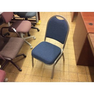 Blue padded metal frame dining chair (11/8/18)