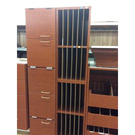 "12x66x30"" hanging cabinet and mail sorting slots 3 doors, 24 slots"