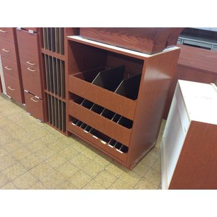 """23x30x43 1/2"""" wood Cabinet with 3 pull out sorting drawers no top (11/12/18)"""