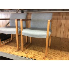 Blue padded wood frame side Chair (11/14/18)