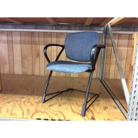 Blue padded metal frame side chair (11/14/18)